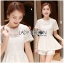 Lady Laurel Classic Sweet Lace Peplum Top and Short Ensemble Set L271-7516 thumbnail 10