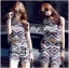 Lady Claire Graphic Tribal Sleeveless Top and Shorts Ensemble Set L161-75C02 thumbnail 1