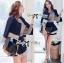 DS-PP-048 Lady Gisele Chic Brocade Jacket and Shorts Set thumbnail 2