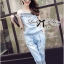 Lady Rebecca Embroidered and Crystal Embellished Denim Ensemble Set thumbnail 2