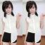 เสื้อลูกไม้ฉลุ แขนกุดคอปก งานสไตส์เกาหลีน่ารักๆไฮโซสุดๆ thumbnail 2