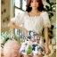 Lady Cathy Off-Shoulder Chiffon with Butterfly Printed Playsuit L260-7518 thumbnail 4