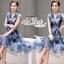 Korea Cocktail Dresses blue floral print by Aris Code thumbnail 3