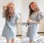Lady Jill Geometry Flared-Sleeved Brocade Denim Dress L193-69C05 thumbnail 2