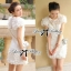 DR-LR-086 Lady Paula Sweet Chic Flowery White Dress thumbnail 5