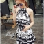 DS-PP-039 Lady Ashley Printed Playsuit in Black and White thumbnail 4
