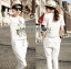 Lady Emma Sporty Casual Striped Printed with Lace Set L205-89C03 thumbnail 3