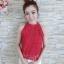 เสื้อลูกไม้งานสไตส์เกาหลีมีโบว์หลังน่ารักๆ thumbnail 8