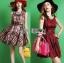 Lady Cris British Elegant Check Printed Beige Dress L196-85C07 thumbnail 6