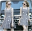 Lady Jennifer Summery Pretty Daisy Embroidered Plaid Dress L265-6901 thumbnail 9