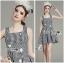 Lady Jennifer Summery Pretty Daisy Embroidered Plaid Dress L265-6901 thumbnail 4