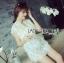 Abigail Pretty and Sexy White Lace Mini Dress L216-65C04 thumbnail 11