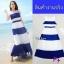Maxi dress ผ้าชีฟอง แขนกุด มีซับใน สีทูโทน thumbnail 2