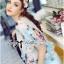 Lady Katie Dreamy Colourful Printed Layered Chiffon Top and Satin Shorts Set L166-79C11 thumbnail 5