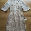 Kate Royal Sweet Gold Floral Embroidered Button-Down Tulle Dress L272-85031 thumbnail 14