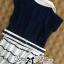 DR-LR-209 Lady Claire Mixed Print Sleeveless Insert Chiffon Shirt Dress thumbnail 17