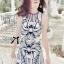 DR-LR-136 Lady Paula Glamorous Chic Italian Print Dress thumbnail 7