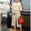 Lady Ariana Round n' Round Cotton Embroidered Top and Pants Set L273-8911 thumbnail 5