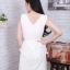 Dress ผ้าซาร่า แต่งผ้ามุ้งเย็บกุน2ชั้นมีสายผูกเอว thumbnail 2