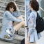 DR-LR-260 Lady Amy Glittering Sequin Snoopy Denim Shirt Mini Dres thumbnail 1