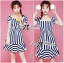 DR-LR-223 Lady Jenny '50s Style Mixed Striped Dress thumbnail 4