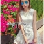 DR-LR-127 Lady Rachel Sweet Angel Flowery Dress in White thumbnail 6
