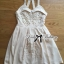 Lady Annette Pearl Embellished Laser-Cut Apron Dress in White thumbnail 6