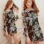 Lady Daria Beachy Blossom Print Chiffon Mini Dress L197-65C11 thumbnail 2