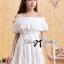 Lady Chloe Feminine Off-Shoulder Cotton and Lace Dress L188-75C08 thumbnail 3