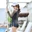 SM-V1-616 ชุดว่ายน้ำแขนยาว สีดำ แขนขาวผ้าตาข่ายซีทรู thumbnail 9
