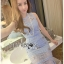 Lady Nara Feminine Elegant Crystal Embroidered Lace Dress L267-8514 thumbnail 2