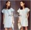 Lady Jill Geometry Flared-Sleeved Brocade Denim Dress L193-69C05 thumbnail 17