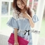 DR-LR-094 Lady Natalie Casual Slouchy Lace and Denim Dress thumbnail 2