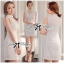 DR-LR-129 Lady Kelly Haute Glam Flowery Dress in White thumbnail 14