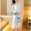 Lady Cara Holiday Casual White Lace Cropped Top and Culottes Set L253-75C22 thumbnail 9