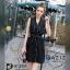 Dress Black เดรสเดินเส้นขาวดำ thumbnail 3