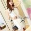 DR-LR-040 Lady Miki Pleats Please Chiffon Dress (สีขาว) thumbnail 2