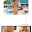 SM-V1-383 ชุดว่ายน้ำเอวสูง เซ็ต 2 ชิ้น สีเหลืองลายสวย thumbnail 7