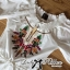 Spring Floral Vivid Embroidered Mini Dress, Korea thumbnail 17