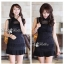 DR-LR-081 Victoria Secret Autumn Black&White Secret Mini Dress thumbnail 1