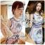 Lady Mary Royal Haute Couture Print Dress thumbnail 3