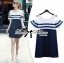 DR-LR-268 Lady Isla Glam Chic Navy Blue Striped Dress thumbnail 1