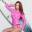 SM-V1-649 ชุดว่ายน้ำแขนยาว สีชมพูสวย กางเกงขาสั้นสีสันสดใส thumbnail 11