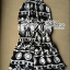 DS-PP-039 Lady Ashley Printed Playsuit in Black and White thumbnail 12