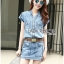 Lady Cindy Little Western Cowboy Denim Shirt and Shorts Set with Belt L262-8507 thumbnail 5