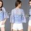 Lady Sophia Feminine Crochet Cropped Top L266-6917 thumbnail 13