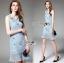 Lady Nara Feminine Elegant Crystal Embroidered Lace Dress L267-8514 thumbnail 1