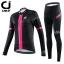 ชุดปั่นจักรยานผู้หญิง Cheji Black-Pink 002 เสื้อปั่นจักรยานแขนยาว พร้อมกางเกงปั่นจักรยานแขนยาว อย่างดี thumbnail 4