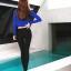 SM-V1-648 ชุดว่ายน้ำแขนยาว+ขายาว เสื้อคลุมสีน้ำเงิน เซ็ต 4 ชิ้น (บรา+บิกินี่+ขายาว+แขนยาวซิป) thumbnail 17