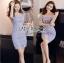 Lady Felicia Sexy Feminine Off-Shoulder Lilac Lace Dress L271-7909 thumbnail 1